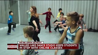 Walled Lake dance studio keeps students in step with online dance class