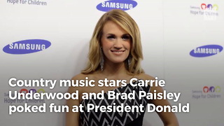 Watch: Hosts Carrie Underwood And Brad Paisley Openly Mock Trump At Cma Awards - Video