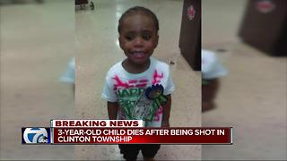 3-year-old child dies after being shot in Clinton Township - Video