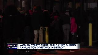 Massive brawl erupts at Christmas toy giveaway in Detroit - Video