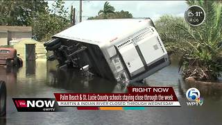 Palm Beach and St. Lucie County schools closed the rest of this week - Video