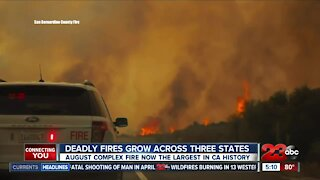 Deadly fires grow across three states