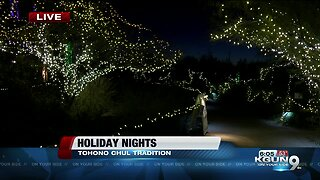 Over a million lights illuminate Tohono Chul for holiday nights