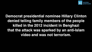 Hillary Clinton Denies Blaming Benghazi Attack On Video - Video