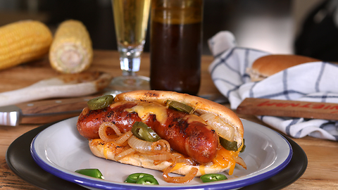 Beer Brat Hot Dogs