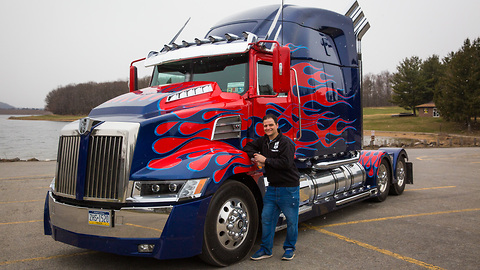 This Is World's First Fan-Built Optimus Prime Truck