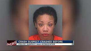 Courtney Campbell crash suspect has past history of DUI crash - Video