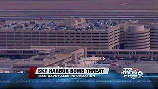 Police: Man who disrupted Phoenix airport said he had a bomb - Video