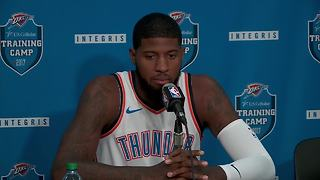 Paul George speaks at Thunder media day - Video