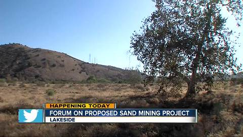 East County residents to weigh in on sand mining project