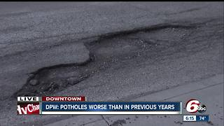 Indy potholes are worse than they have been in years - Video