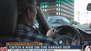 Catch ride with Lyft on the Kansas side - Video