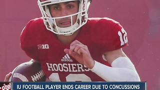 IU football player ends career due to concussions - Video