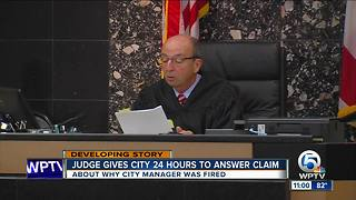 Judge gives Riviera Beach 24 hours to answer claim why Jonathan Evans was fired - Video
