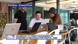 Facebook to train thousands of workers in Michigan for digital jobs - Video