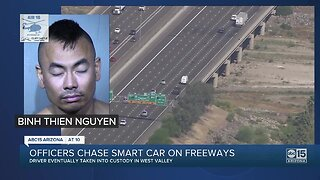 Officers chase smart car on Valley freeways
