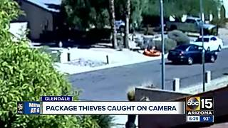 Glendale package thieves thought they were being sneaky... - Video