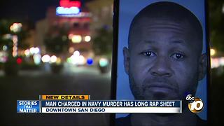 New details: man charged in Navy murder has long rap sheet - Video
