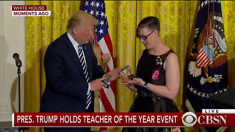 Trump Praises Teacher Of The Year For Her  Outstanding Job
