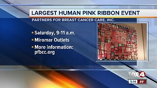 Group hopes to create largest pink ribbon in the country