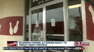 Business owner, attendee react to Friday night protest