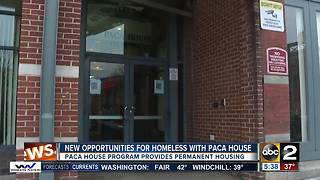 New opportunities for homeless with Paca House - Video