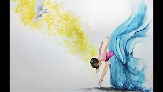 """Prophetic Art, prophetic painting in """"Corona Time"""", Revival in the Holy Spirit, English Version"""