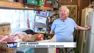 Cancer won't stop woman who runs food pantry - Video