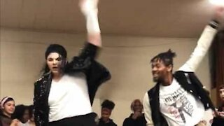 Michael Jackson impersonators dance off!