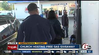 New Beginnings Fellowship Church gives out free gas - Video