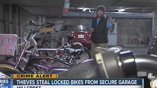 Thieves steal locked bikes from secure garage in Hillcrest - Video