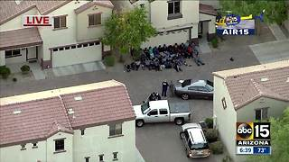 Air15 over police presence in south Phoenix - Video