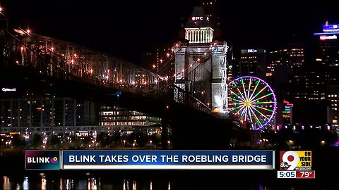 BLINK 2019 overtakes the Roebling Bridge