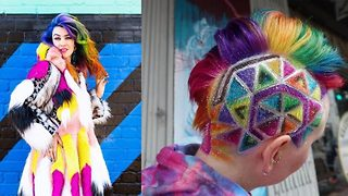 Dying to show his support! Hairdresser attacked by homophobic bullies as teen gives free rainbow 'unicorn' hair to support gay marriage  - Video