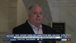 Governor Hogan takes on Democratic Gubernatorial nominee Ben Jealous