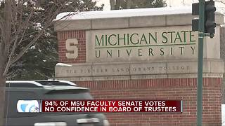 MSU faculty approves vote of no confidence in Board of Trustees - Video