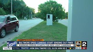 Baltimore speed camera fines start Monday - Video