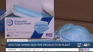 Doctor opens new PPE production plant
