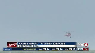 Coast Guard says they were just training off Fort Myers Beach - Video