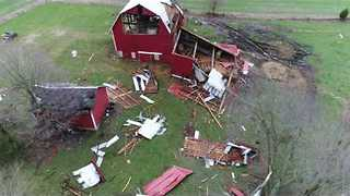 Aerial Footage Shows Aftermath of Tornado in West Michigan - Video