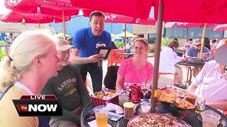 Michael Fish from NBC26 at Waverly Beach - Video