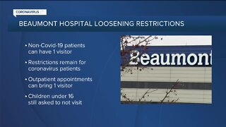 Beaumont Hospital loosening restrictions