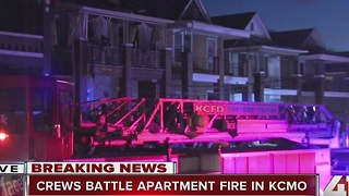 Crews battle apartment fire in KCMO