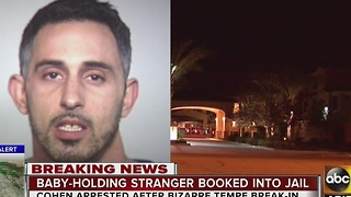 Man breaks into Tempe home, caught holding couple's toddler - Video