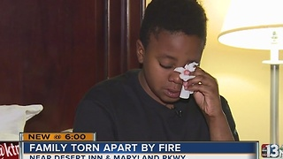 Family loses everything in apartment fire