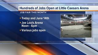 Workers Wanted: Positions open at Detroit's Little Caesars Arena - Video