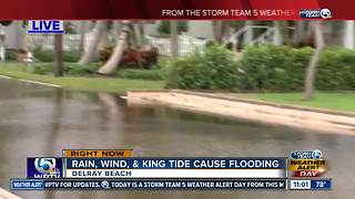 King tide floods coastal Delray Beach - Video