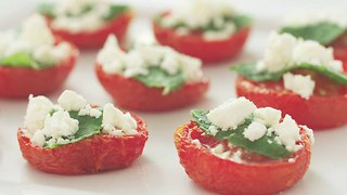 Xanthe Clay's roasted tomatoes with mint and feta - Video