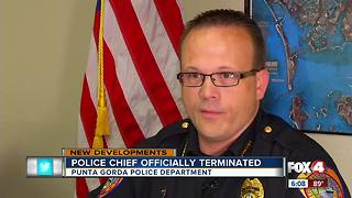 Punta Gorda Police Chief officially terminated - Video