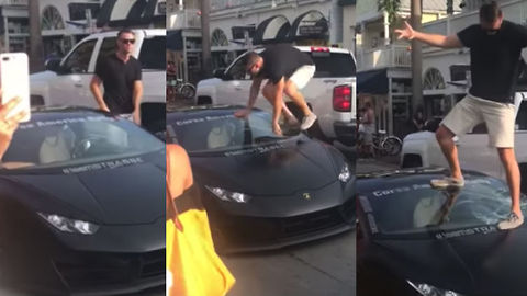 Florida Man Breaks His Lamborghini's Windshield While Showing It Off
